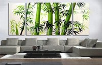 moderne malerei bambus großhandel-MODERN RIESIGE ABSTRAKTE CANVAS ART OIL PAINTING-Bambus Größe: 10 * 24 * 2 Stück, 24 * 28 * 1 Stück Zoll