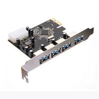 pci expressverbinder großhandel-Freeshipping FÖRDERUNG! USB 3.0 PCI Express Kartenadapteranschluss PCI E Karte 4 Anschlüsse PC Computer