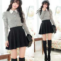 Wholesale Korean Pleated Skirt - Korean Cute Women Candy Color High Waist Pleated Mini Skirt Short Mini Dress New