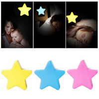 Wholesale led night light sensor plug - Star Night Light LED Wall Lamp For Kids Bedroom Sensor Control EU US Plug Lamp OOA4873