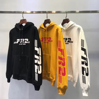 Wholesale free shipping clothes hoodies resale online - High Street Mens Designer Hoodie Embroidered Long Sleeve Sweatshirt Colors Printed Hoodies Brand Clothes Couple Clothing