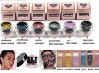 Wholesale glow dark glitter online - factory price Faced Radiance Boosting give yourself a glow job mask Glitter face mask soft facial mask k gold Tiara colours