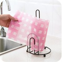Wholesale Free Standing Kitchens - Practical Iron art vertical roll paper holder stand paper towel toilet shelf Home Kitchen Storage Rack,Free shipping.