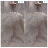 Wholesale big ball sexy online - Off Shoulder Lace Appliques Big Ball Gown Garden Wedding Dress Puffy Bridal Gown Custom Plus Size Tulle Vestidos De Mariage Formal