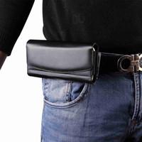 funda magnética iphone de apple al por mayor-Bolso universal de la cintura del caso de cuero de la bolsa de la vendimia Tapa horizontal magnética del teléfono para el iphone X 7 Clip de la funda de la correa del teléfono de Samsung S9 Huawei P20