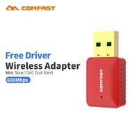 Wholesale usb network adapter driver - RTL8188CU Dual Band 5.8Ghz Free driver mini usb wireless wifi adapter 600mbps Wi-fi Receiver 802.11ac usb adapter network card