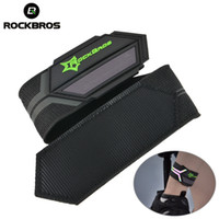поддержка велосипеда оптовых-ROCKBROS Cycling Bicycle Pants Clip Reflective Belt Sports Safety Running Bike Sweatband Light Belt Riding Ankle Support Safety