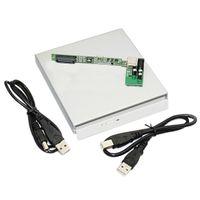 laptop ide sürücüler toptan satış-Laptop CD DVD Blu Ray Sürücü RW ROM için USB 2.0 IDE Harici Kasa Muhafaza