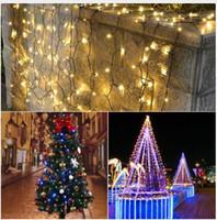 corte de tira de led al por mayor-Luz de jardín LED Impermeable Al Aire Libre 7 M / 12 M / 22 M LED Solar Cuerda Decoración de Vacaciones Patio Paisaje Boda Fiesta de Navidad Césped lámparas