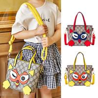 baykuş çapraz vücut çanta toptan satış-Çocuklar Tasarımcı Çanta Moda Kore Prenses Omuz Çantaları Çocuklar Karikatür Baykuş Mektup Çapraz vücut Çanta Çocuk Aperatifler Çanta Yılbaşı Hediyeleri