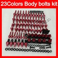 kit de tornillos gsxr al por mayor-Kit completo de tornillos de carenado Para SUZUKI GSXR600 GSXR750 06 07 GSXR 600750 K6 GSX R600 R750 2006 2007 Cuerpo Tuercas tornillos kit de perno tuerca 25 colores