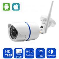 drahtlose cctv kamera sd karte großhandel-IP-Kamera 720P Wifi Yoosee Sicherheit im Freien drahtlose CCTV-Überwachung wasserdichte IP-Kamera-Unterstützungs-Sd-Karte