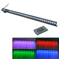 Wholesale flood stain - LED wall washer RGB 12W 18W 24W 30W 36W wash wall LED lamp flood lights staining lamp bar lights LED floodlight landscape lighting