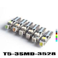 grüne led-blinker großhandel-Hotsale T5 3 LED 3528 SMD 3led 3smd Auto Auto Lampe Armaturenbrett Gauge Lichter Instrument Warnanzeige Signal Lampen