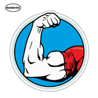 Wholesale arm door - Wholesale Arm Wrestling Biceps Strong Arms Jdm Vinyl Decals Car Stickers Glass Stickers Scratches Stickers Bumper Accessories
