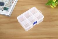 komponentler saklama kutusu toptan satış-Kapaklı ve mandallı plastik şeffaf saklama kutusu konteyner takı bileşenleri ve parçaları için 6 bölmeleri