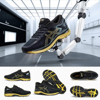 Wholesale limited run - Limited Asics MetaRun T641N-9099 Stable Shockproof Running Shoes Marathon Black gold mens Mesh Shoes FlyteFoam Sport Sneakers Size 40.5-46