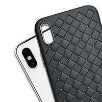 iphone kablosuz şarj kasası toptan satış-Samsung s8 Dokuma Izgara PU Kılıf Için iPhone X 8 7 6 S 6 Artı Kılıfları Yumuşak Deri Kablosuz Şarj Telefon Kabukları Aksesuarları