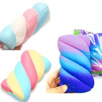Wholesale Food Colouring Colours - Squishy Marshmallow Spun Sugar Coloured 14.5cm Slow Rising Relieve Stress Cake Sweet Food PU Cell Phone Strap Phone Pendant Key Chain Gift