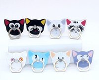 Wholesale phone holder for head for sale – best Universal Fashion Cartoon Cat head Ring Holder Degree Mobile Phone Stand Universal Ring hook bracket For Mobile Phones