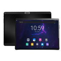 inç çift kart toptan satış-Temperli 2.5D Cam 10 inç tablet PC Deca Çekirdek 4 GB RAM 64 GB ROM 3G 4G FDD LTE Çift Sim Kartları Telefon TAB 1920x1200 IPS 10.1