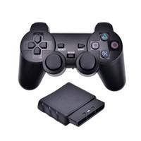 controladores de playstation venda por atacado-2.4g sem fio gêmeo jogo controlador de choque joystick gaming joypad para sony ps2 playstation 2
