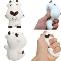Wholesale milking cow toy resale online - Squishy Cow Milk Scented Fragrance Toy Relaxation Slow Rising Milch Dairy Cattle kawaii Gift Jumbo Squishies Animals SQU009