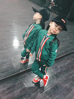 Wholesale fashion baby clothes - 2017 new style Children s clothing casual sports set baby girls winter clothes long sleeve fashion infant kids jacket pants