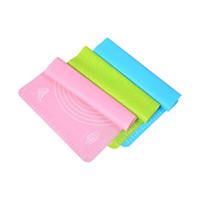 almofadas de fondant venda por atacado-40 cm * 30 cm Silicone Rolling Cut Mat placa de pastelaria Sugarcraft Fondant Clay Pastelaria Glacê De Massa Bolo ferramenta doce cor você pode escolher