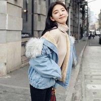 otoño abrigo corea al por mayor-Mujeres Harajuku Casual Denim Korea Style Otoño 2018 Chaqueta de manga larga Abrigos cortos Ropa Outwear Sep28