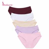calzoncillos de mujer al por mayor-Wealurre Soft Sexy Cotton Briefs Mujeres Low Waist Rise Underwear Invisible Seamless Panties Briefs Mujer Calzoncillos Intimates PH