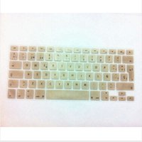 Wholesale Gold Skin Sticker - (10pcs) Metallic Gold Spanish EU Silicone Keyboard Cover Skin sticker Protector for MacBook Pro air 13 15 17 With Retina Display