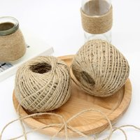Wholesale jute string wholesale - Wholesale-Jute Rope For Packing DIY Natural Sisal 2mm Rustic Tags Wrap Wedding Decoration Crafts Twisted Rope String Cord For Events Party
