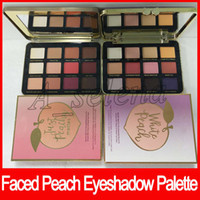 Wholesale wholesale faced eye shadow - 2018 Newest Faced eyeshadow palette White peach Just peachy mattes velvet matte eye shadow palette peach sweet