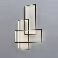 lámparas de pared sala de estar al por mayor-Lámpara de pared LED Apliques de pared Iluminación de diseño Rectángulo Aluminio Sala de estar Escaleras Luz de pared