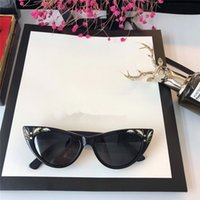 Wholesale Baroque Resin Frame - 3807S Sunglasses New Luxury designer fashionable cat eye small frame Engraving pattern Baroque sunglasses popular style with box