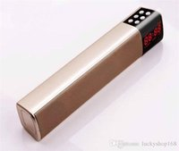 Wholesale cheap bluetooth button online - S2028 LCD Screen Digital Display Long Cuboid Wireless Bluetooth Speaker Portable Stereo Sound TF USB Mp3 Music Player Cheap Price