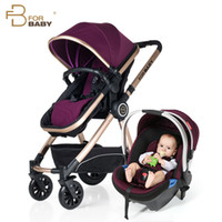 Wholesale Baby Stroller in for Newborns High Landscape Baby Carriages with Car Seat Multi functional Baby Prams Pushchair