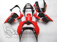 kawasaki zx9r özel fuar takımları toptan satış-KAWASAKI NINJA ZX9R 1998 1999 ZX 9R 98 99 ZX-9R ücretsiz özel renk kırmızı siyah Fairing kitleri
