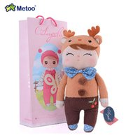 Wholesale Deer Plush Doll - 2pcs Plush Sweet Deer Angela Rabbit Doll Cute Lovely Stuffed Animals Baby Kids Toys for Girls Birthday Christmas Gift 13 Inch
