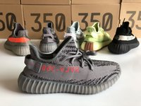 Wholesale fall fashion sale - 2018 Hot Sale Running Shoes 350 V2 Dark Grey Beluga 2.0 AH2203 Kanye West Fashion Sneakers Blue Tint Semi Frozen Yellow Sports Shoes