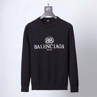 ingrosso maglione a maglia nera-2019 Nuovo arrivo stile ricamo uomini maglione nero di marca-abbigliamento design semplice pullover lavorato a maglia casuale di alta qualità fzlw70243