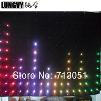 Wholesale dj cloths - 2m*4m P18 Led Video Curtain DJ Booth Effect Light Soft Cloth Vision Backdrop Band Party Stage DJ Wedding