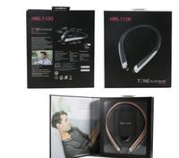 üst boyun bandonu toptan satış-En Kaliteli HBS 1100 Sert Perakende Paketi Ile Bluetooth Kablosuz Kulaklık HBS1100 KSS 4.1 Boyun Bandı Spor Kulaklık Kulaklıklar ile Mic