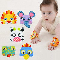 Wholesale cloth animal baby rattles resale online - Sozzy Lovely Cute Animal Shape Wrist Baby Rattle Toys Ring Bells Developmental Comfortable Gifts For Infant