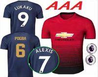 Wholesale premier league football shirts - 2018 2019 Premier League ALEXIS LUKAKU POGBA MAN MARTIAL UTD LINGARD RASHFORD Soccer Jersey Custom Home Away 18 19 united Football Shirt