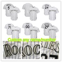 Wholesale Colorado Shorts - Colorado Custom Jersey 28 Nolan Arenado 19 Charlie Blackmon 24 Ryan McMahon 49 Antonio Senzatela 4 Pat Valaika Baseball Jerseys