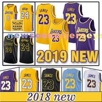 Wholesale embroidery jerseys - 2018-2019 NEW Los Angeles Lakers LeBron James Rajon Rondo MEN Youth Embroidery Logos Basketball jerseys S-XXL