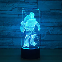 Wholesale Ninja Party - Ninja 3D Optical Illusion Lamp Night Light DC 5V USB Powered AA Battery Wholesale Dropshipping Free Shipping