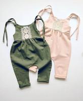 onesie lindo de los niños al por mayor-Moda lindo mameluco del mono del mono onesie boho playsuit niño niñas muchachos trajes ropa de bebé trajes de calidad superior